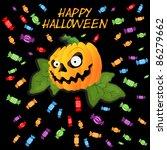 happy halloween | Shutterstock .eps vector #86279662