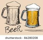 beer mug   old drawing style ... | Shutterstock .eps vector #86280208