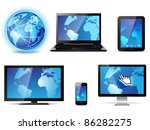 electronic devices | Shutterstock .eps vector #86282275