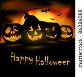 halloween scene editable eps.... | Shutterstock .eps vector #86286088
