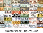 License Plates Collage