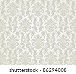vector seamless floral damask...
