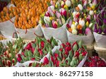 Colorful Tulips At Market...