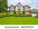 luxury house in vancouver ... | Shutterstock . vector #86299054