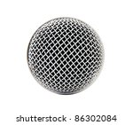 Head Microphone Isolated On...