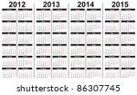 Template For Calendar 2012 2015