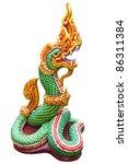naga thai statue isolate on the ... | Shutterstock . vector #86311384