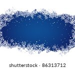 snowflakes christmas and new... | Shutterstock .eps vector #86313712