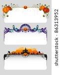 halloween banners | Shutterstock .eps vector #86313952