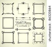 vector set of 9 calligraphic... | Shutterstock .eps vector #86320864