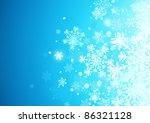 vector illustration of blue... | Shutterstock .eps vector #86321128