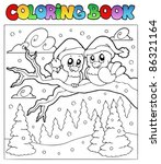 coloring book two winter birds  ... | Shutterstock .eps vector #86321164