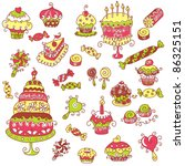 sweets | Shutterstock .eps vector #86325151
