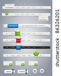 website graphics | Shutterstock .eps vector #86326201