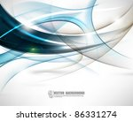 eps10 vector elegant wave... | Shutterstock .eps vector #86331274