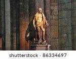 antique statue in duomo  milan | Shutterstock . vector #86334697