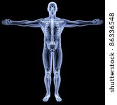 male body under x rays.... | Shutterstock . vector #86336548