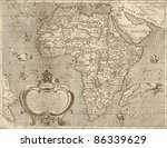 Antique Map Of Africa.from...