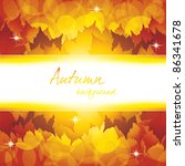 autumn background with lights... | Shutterstock .eps vector #86341678