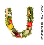 "vegetable alphabet letter ""u"" 