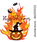halloween card   vector | Shutterstock .eps vector #86353522