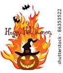 halloween card   vector   Shutterstock .eps vector #86353522