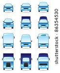 road transport icons set  ... | Shutterstock .eps vector #86354530