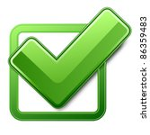 green check box with check mark | Shutterstock . vector #86359483