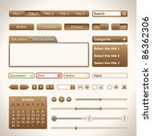 warm brown ui set