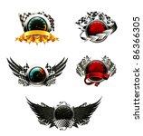 set of racing emblems | Shutterstock .eps vector #86366305