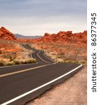 Road Through Valley Of Fire ...