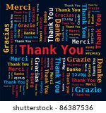 word cloud   thank you in 5... | Shutterstock .eps vector #86387536