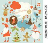 christmas background ... | Shutterstock .eps vector #86396665