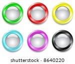 set of buttons | Shutterstock .eps vector #8640220