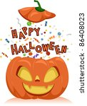 illustration of a jack o... | Shutterstock .eps vector #86408023