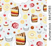 texture of cakes | Shutterstock .eps vector #86419585