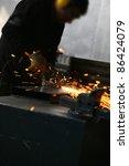 welding closeup bright light...   Shutterstock . vector #86424079