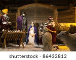 christmas nativity figurines of ... | Shutterstock . vector #86432812