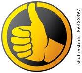 vector hand showing thumbs up... | Shutterstock .eps vector #86433397