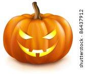 pumpkin  isolated on white... | Shutterstock .eps vector #86437912
