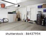 clean swept interior suburban... | Shutterstock . vector #86437954