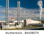 factory with a chimney and smoke | Shutterstock . vector #86438074