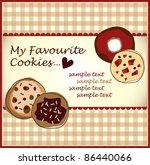 chocolate cookies | Shutterstock .eps vector #86440066