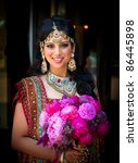 image of a smiling indian bride ...   Shutterstock . vector #86445898