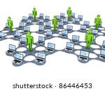 network concept.isolated on...   Shutterstock . vector #86446453