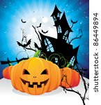 halloween vector design | Shutterstock .eps vector #86449894