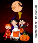 halloween background with... | Shutterstock .eps vector #86450338