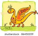 Kind Happy Dragon. The Nice...