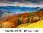 The Mountain Autumn Landscape...