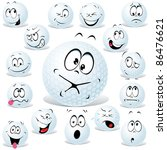 vector golf ball cartoon... | Shutterstock .eps vector #86476621